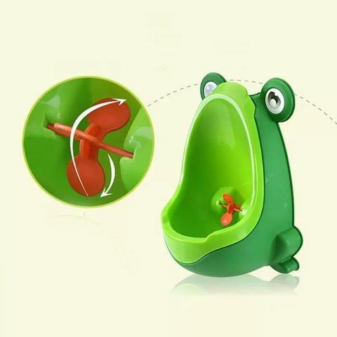 Imagem de Mictório Infantil Sapinho Pinico Troninho Bebê Xixi Menino Verde