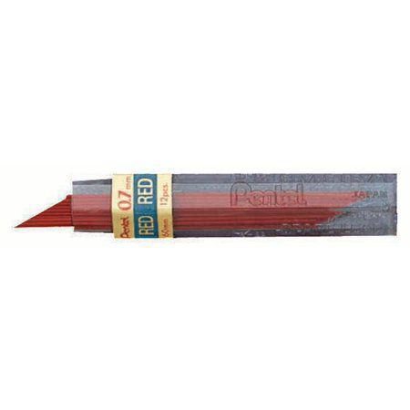 0f4a7fb9f Mina grafite 0.7mm vermelho-ppr-7 - Pentel - Lápis e Lapiseiras ...
