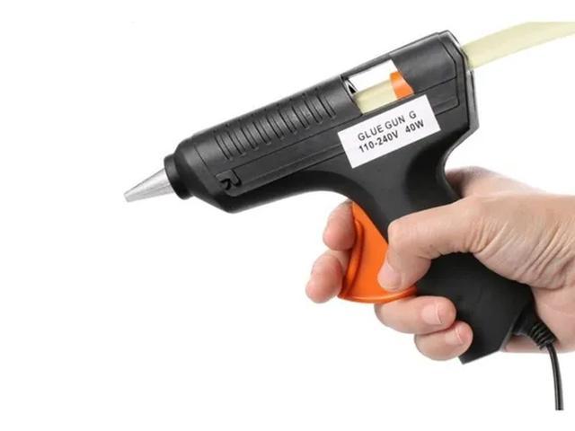Imagem de Mini Aplicador Pistol.a Para Cola Quente 40w Média Bivolt 110v/220v Para Injetar Cola Quente