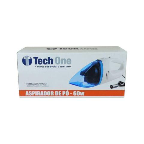 Imagem de Mini Aspirador de pó portátil automotivo 12v 60w Tech One