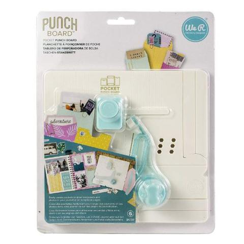 Imagem de Mini Base Criativa Bolsinhos We R Memory Keepers Pocket Maker Punch Board 6 Peças  660484 WER354