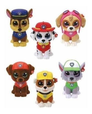 Imagem de Mini Beanie Boos Patrulha Canina Surpresa Ty Kit C/5 Un