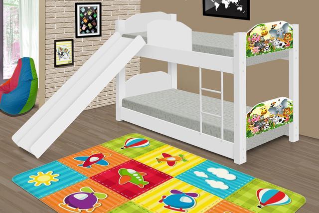 Imagem de Mini Beliche Montessoriana Animais com Escorregador