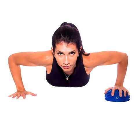 Imagem de Mini Bola Bosu com Base Antiderrapante Acte Sports Azul para Atividade e Exercício Físico