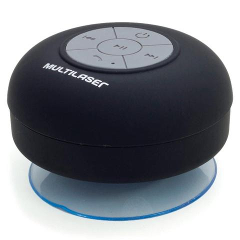 Imagem de Mini Caixa de Som Multilaser Bluetooth Shower Speaker a Prova DÁgua 8 Watts RMS - SP225
