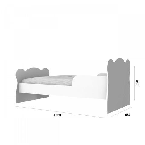 Imagem de Mini Cama Infantil com Proteção Lateral 1590 Baby Móveis Percasa Branco/Lilás