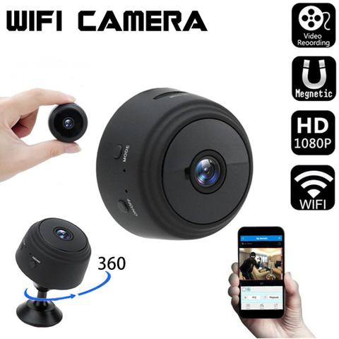 Imagem de Mini Câmera Segurança Espiã A9 Wifi HD Noturna 1080p Filmadora P2p Monitoramento Discreta sem LED Bateria