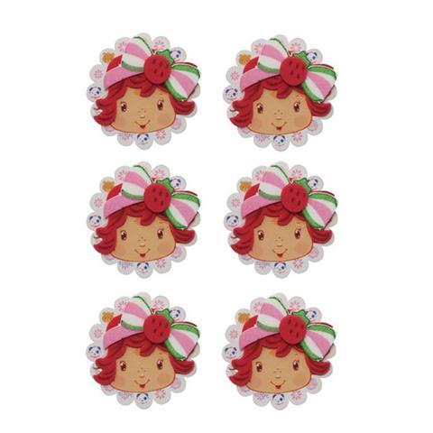Imagem de Mini Carinhas EVA Moranguinho Baby 06 unidades Piffer