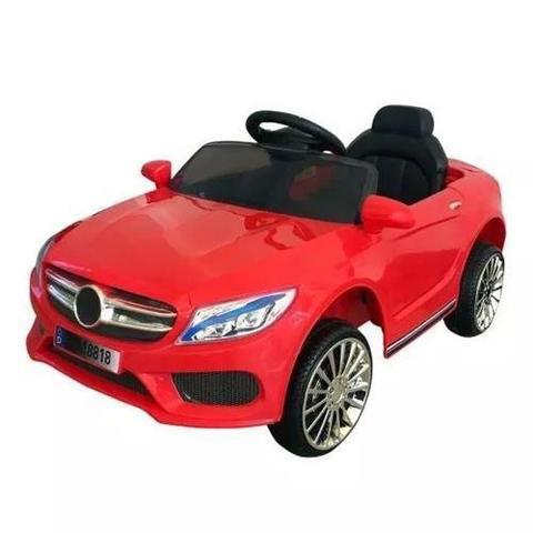 Imagem de Mini Carro Elétrico BW007 Com Controle Remoto - Vermelho (Modelo Mercedes Benz)
