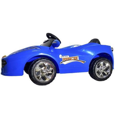 Imagem de Mini Carro Eletrico Infantil Azul - Bateria Recarregável De 6v - Import Way