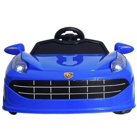 Imagem de Mini Carro Elétrico Infantil Azul - Bateria Recarregável De 6v - ImportWay