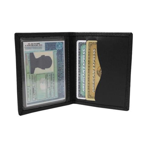 Imagem de Mini Carteira 02 - Carteira Pequena de Bolso em Couro (383TN02) Slim - Porta CNH, Cartões, Cédulas