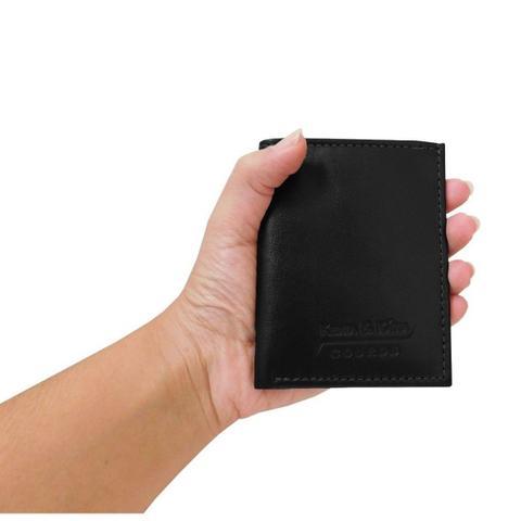 Imagem de Mini Carteira 03 - Carteira Pequena de Bolso em Couro (381TN03) Slim - Porta CNH, Cartões, Cédulas