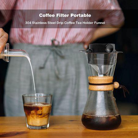 Imagem de Mini Coador De Café em Aço Inox Reutilizável MonoDose drip coffee - v2
