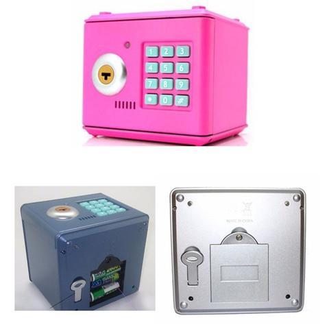 Imagem de Mini Cofre Digital Eletrônico Aço C/ Chave  Exclusivo