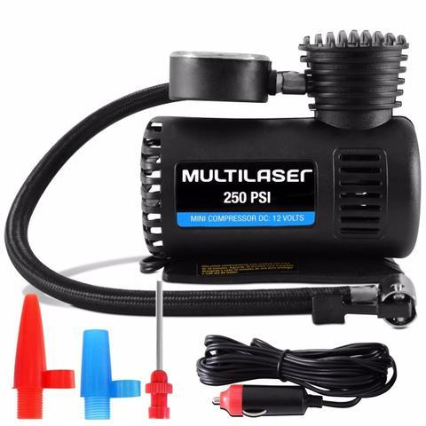 Imagem de Mini Compressor Ar Automotivo Portátil Pneu Bola