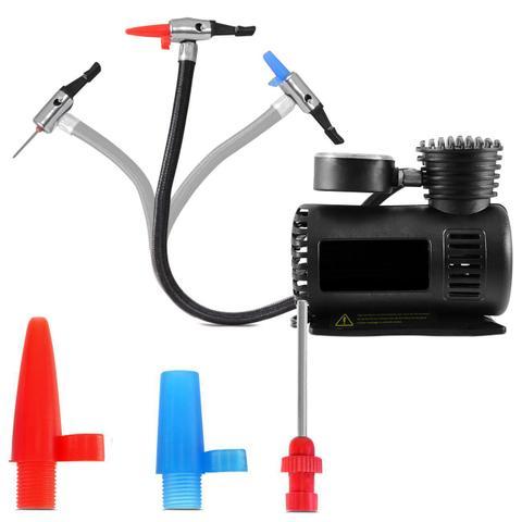 Imagem de Mini Compressor de Ar Compacto 12V 300 PSI Com 3 Bicos Multiuso
