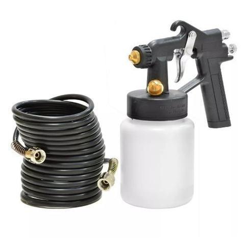 Imagem de Mini Compressor De Ar Direto Tufão Bivolt + Pistola Pintura