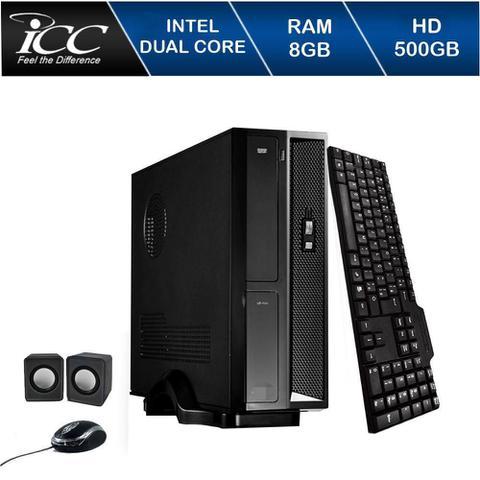 Desktop Icc Sl1881c Celeron J1800 2.41ghz 8gb 500gb Intel Hd Graphics Linux Sem Monitor