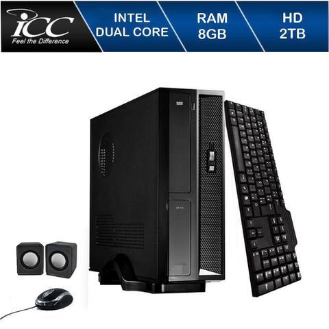 Desktop Icc Sl1883k Celeron J1800 2.41ghz 8gb 640gb Intel Hd Graphics Linux Sem Monitor