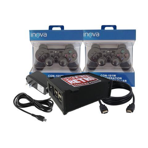Imagem de Mini console projeto retro 10 mil jogos 2 controles sem fio
