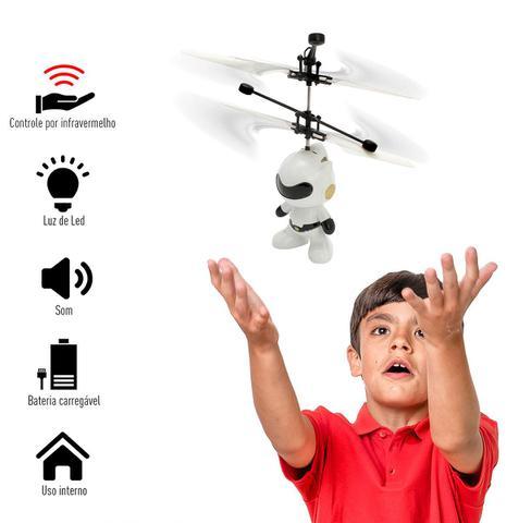Imagem de Mini Drone Brinquedo Robo Voador Infravermelho Voa Verdade MEGA COMPRAS