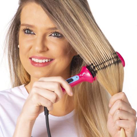 Imagem de Mini escova modeladora clarinha modela legal