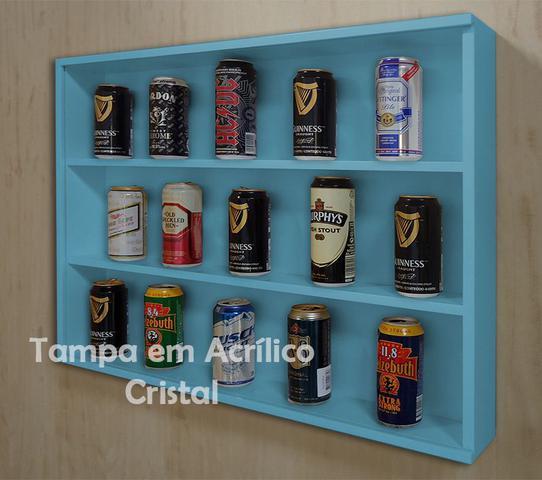 Imagem de Mini Estante Vitrine para Coleções Miniaturas / Cervejas Laquaeda - Azul