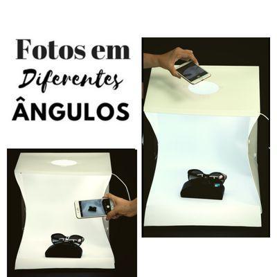 Imagem de Mini Estudio Fotográfico Portátil, 40cm com 70 Luzes  LED