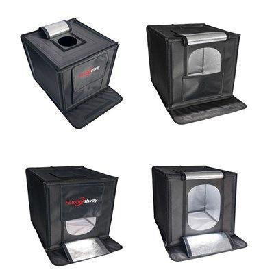 Imagem de Mini Estúdio Fotográfico Portátil 60x60x60 - LED e Placa Reflexão