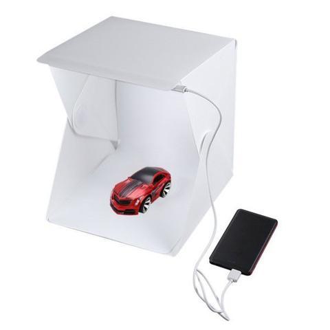Imagem de Mini Estúdio Fotográfico Profissional Portátil Para Smartphone Dobrável 20x Leds Tire Fotos Com Grande Qualidade