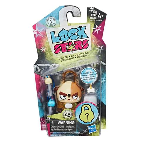 Imagem de Mini Figura - Cadeado Surpresa - Lock Stars - Cachorro Marrom - Hasbro