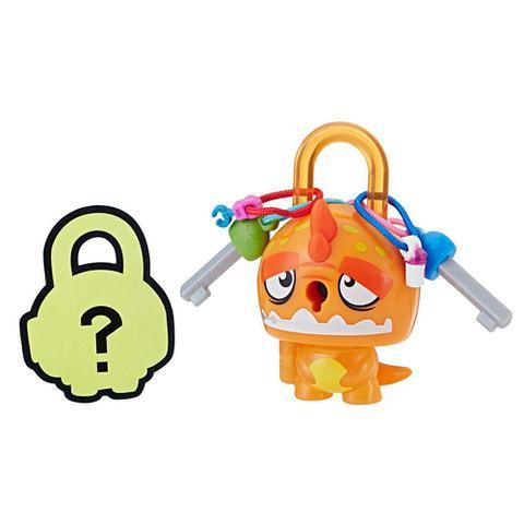 Imagem de Mini Figura - Cadeado Surpresa - Lock Stars - Dinossauro Laranja - Hasbro
