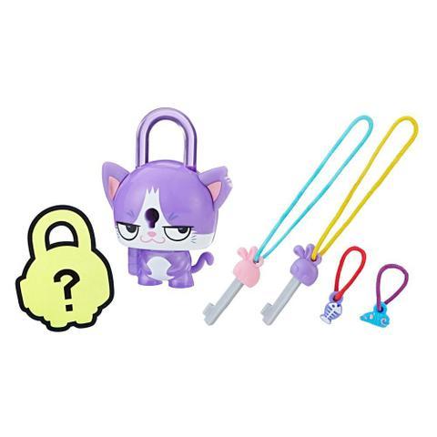 Imagem de Mini Figura - Cadeado Surpresa - Lock Stars - Gato Roxo - Hasbro