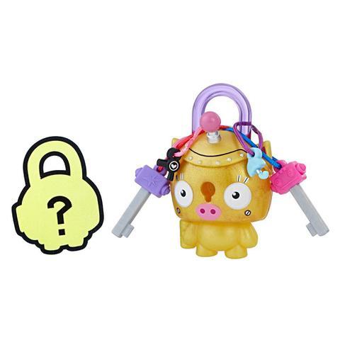 Imagem de Mini Figura - Cadeado Surpresa - Lock Stars - Porquinho Dourado - Hasbro