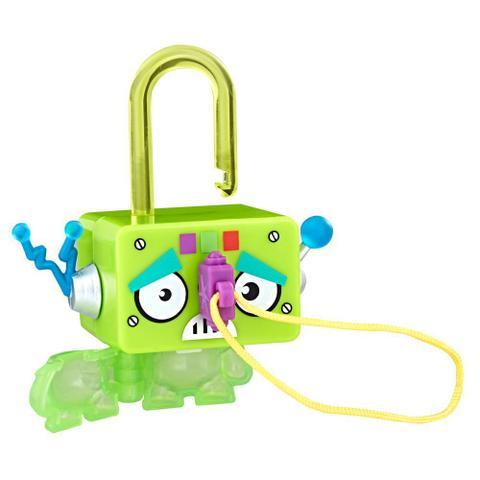 Imagem de Mini Figura - Cadeado Surpresa - Lock Stars - Robô Quadrado Verde - Hasbro