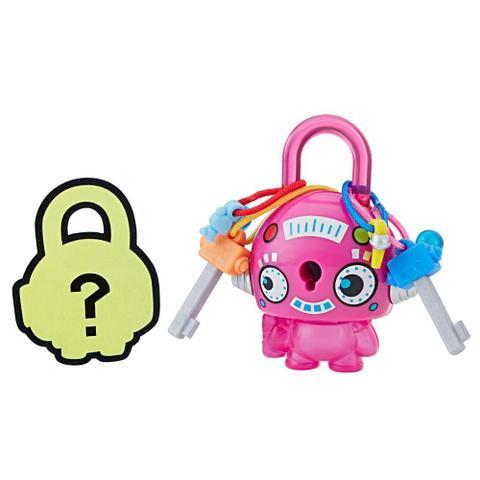Imagem de Mini Figura - Cadeado Surpresa - Lock Stars - Robô Redento Rosa - Hasbro