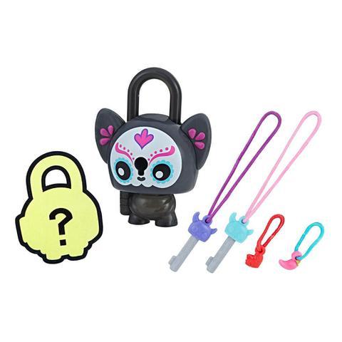 Imagem de Mini Figura - Cadeado Surpresa - Lock Stars - Sugar Skull Cat - Hasbro