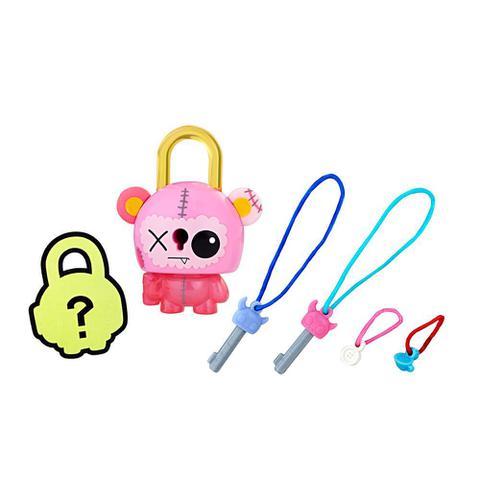 Imagem de Mini Figura - Cadeado Surpresa - Lock Stars - Ursinho Rosa - Hasbro