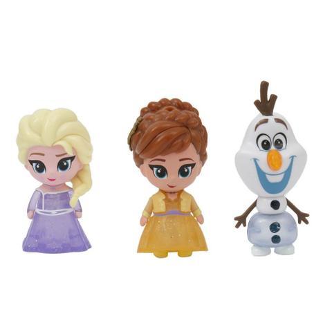 Mini Figuras Com Luzes 7 Cm Disney Frozen 2 Anna Elsa E