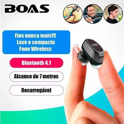 Imagem de Mini Fone Ouvido Boas Lc100 Bluetooth 4.1 S/ Fio Micro Menor