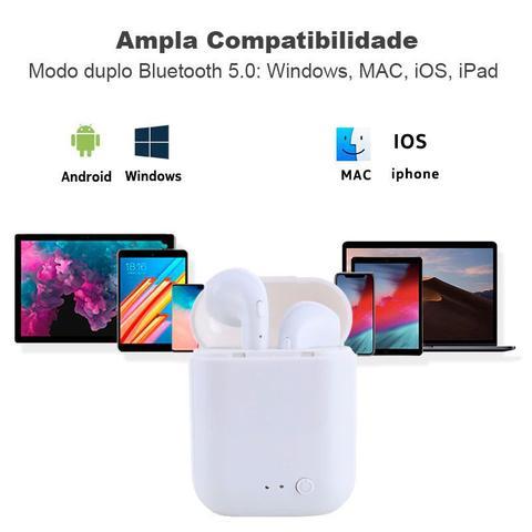Imagem de Mini Fones de Ouvido Sem Fio I7 Tws Bluetooth 5.0 Cor Rosa