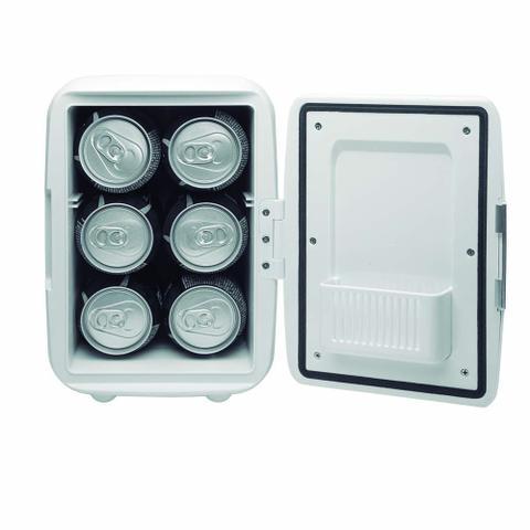 Imagem de Mini Geladeira 4L 12V 220V Capacidade 6 Latas de 350ML Com Cabo DC Sem Cabo Ac Branca Multilaser - TV010