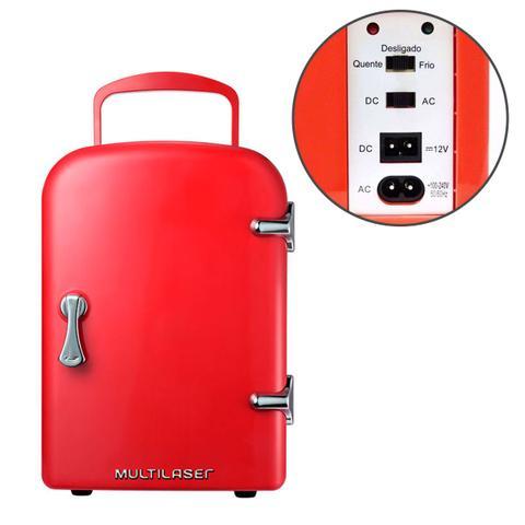 Imagem de Mini Geladeira Retro Vermelha Trivolt 4 Litros 12v/127v/220v com Cabo Ac/Dc - TV007