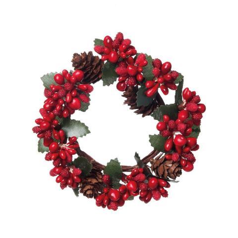 Imagem de Mini Guirlanda Decoração Natal Vermelho
