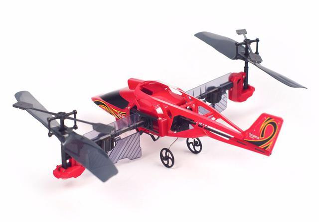 Imagem de Mini Helicóptero Controle Remoto Heli Twister Manobras Aéreas - Vermelho - DTC