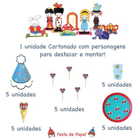 Imagem de Mini Kit Festa Aniversário Alice no País das Maravilhas 1