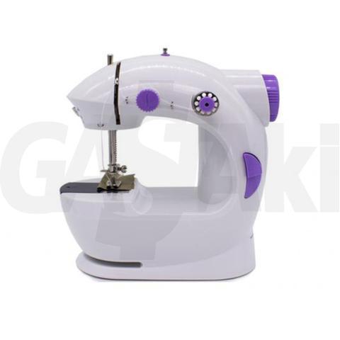 Imagem de Mini Máquina Costura Reta Portátil Luz Bobina e Agulha