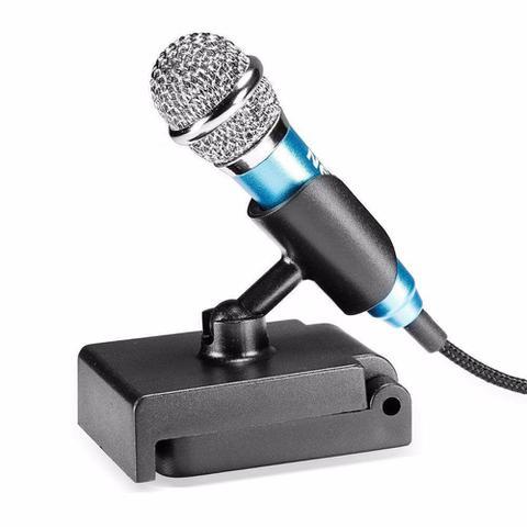 Imagem de Mini Microfone Estéreo P2 Kp-907 Knup Celular Câmeras Gravador Pc Notebook Azul
