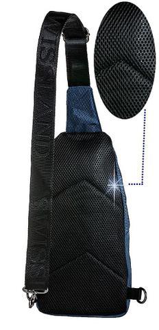 8a2cb1a65 Imagem de Mini Mochila masculina Esportiva Resistente Transversal Entrada  Fone de Ouvido + Fone De Ouvido